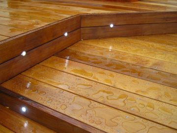 wood stain on cedar decking